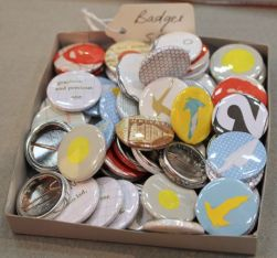 A lovely selection of badges by Kim Bevan.
